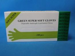 Rękawice rektalne zielone SUPER SOFT op. 100szt.